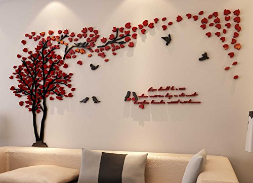 3d Couple Tree Wall Murals For Living Room Bedroom Sofa Backdrop Tv Wall  Background, Originality Stickers Gift, DIY Wall Decal Home Decor Art  Decorations ...