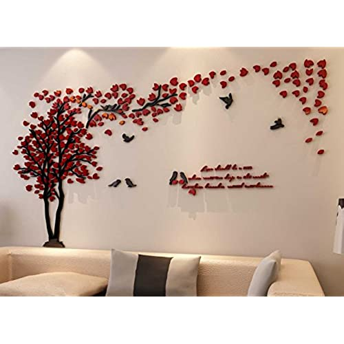 3d couple tree wall murals for living room bedroom sofa backdrop tv wall background originality stickers gift diy wall decal home decor art decorations - Room Decor 3d