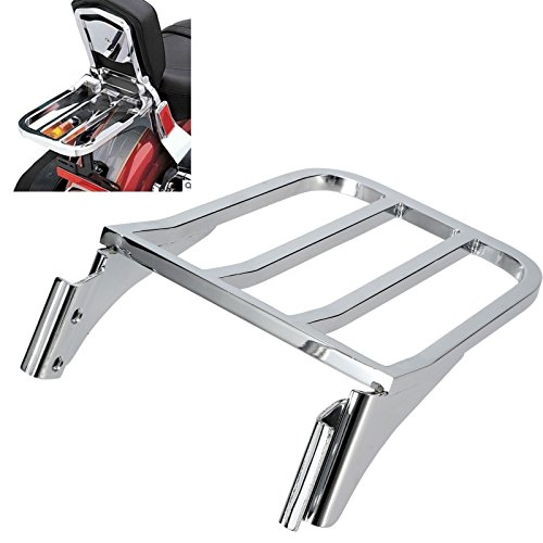 Detachable Chrome Sport Sissy Bar Luggage Rack For Harley Dyna Wide Super Glide FXDB FXDL Softail Heritage Springer FLSTF FLST FLSTC FLSTSC Sportster Iron 883 1200
