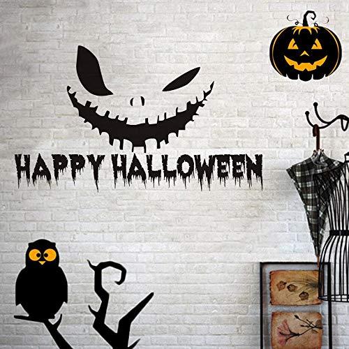Fengdp Feliz Calabaza de Halloween Sonrisa Vinilo Etiqueta de La ...