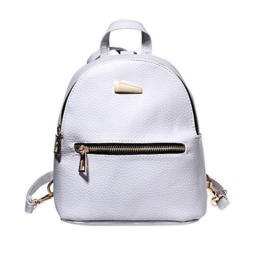 Kloud City New Fashion Women Girls Casual PU Grain Backpack Mini Travel Rucksack Daypack Handbag School Double Shoulder Bag