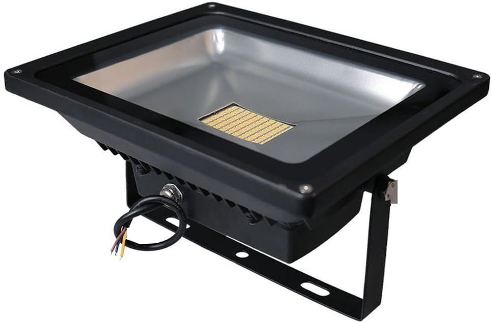 Leetop 80 Watt LED Flood Light SMD Flutlicht Außen Fluter Warmweiss Scheinwerfer Strahler Licht IP65 Gartenleuchte Security Light(6 Stücke) 80w Warmweiß