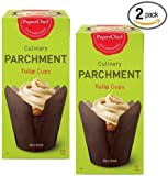 (2 Pack) Standard Tulip Baking Cups, / Cupcake Liner Muffin Wrapper, 24 Pieces (12-ct/Box)