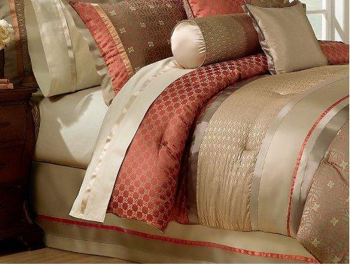 Waterford Linens Bogden Collection Queen Bedskirt Cinnabar