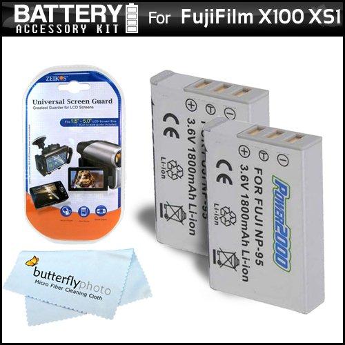 2 Pack Battery Kit For Fuji Fujifilm X-S1, X100, X100S, XS1,