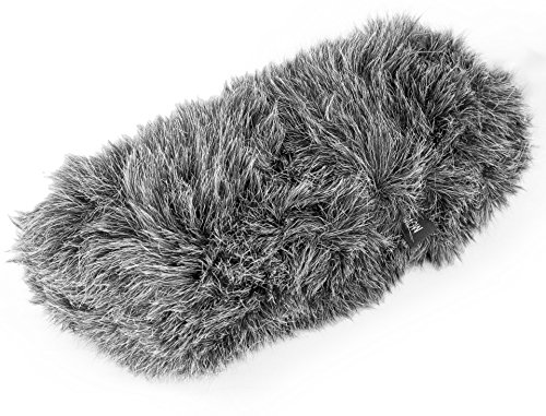 (Movo WS-S1000 Furry Outdoor Deadcat Windscreen for Shotgun Microphones up to 7-inch (18cm) Long - Fits Rode VideoMic, NTG-2, Sennheiser ME66, Audio-Technica AT-897 & More)