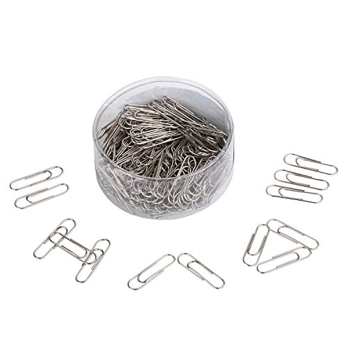 Dxg 190 Pieces Stainless Steel Paper Clips, (Metal Paper Clips)