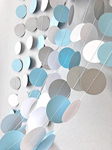 20pcs Baby Blue White Grey Baby Boy Baby Showerparty Paper