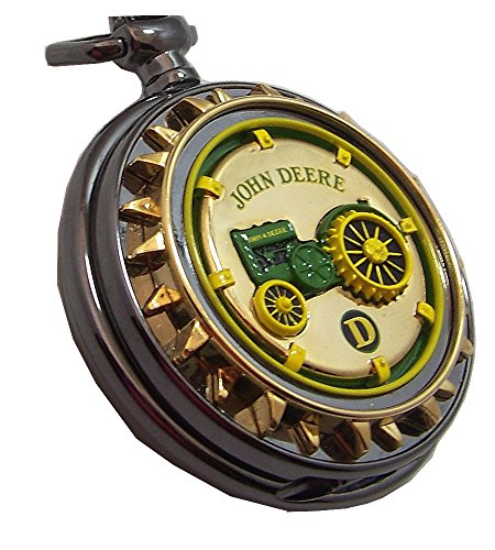 John Deere Model D Tractor Pocket Watch Franklin MInt Collectible Pocketwatch -  TFMB11ZM03