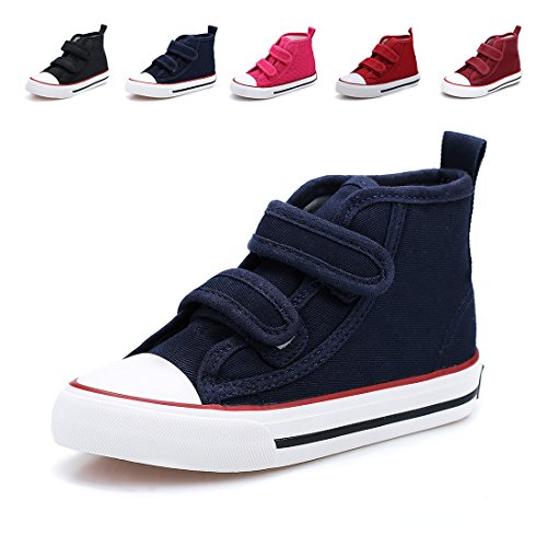 Hawkwell High-Top Strap Canvas Sneaker(Toddler/Little Kid),Navy Strap Canvas,11 M US