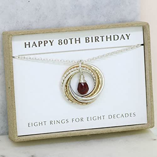80th Wedding Anniversary Gift: Amazon.com: 80th Birthday Gift For Mother, Ruby Necklace