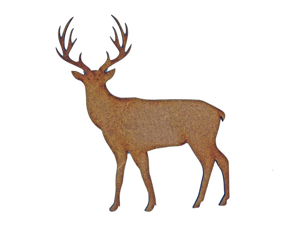 Stag MDF Laser Cut Craft Blanks in Various Sizes