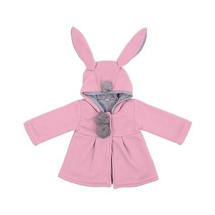 Gugutogo Abrigo de algodón suave de las mangas largas de las muchachas del bebé Abrigos de