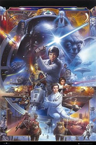1Art1  Set  Star Wars  30Th Anniversary Poster  36X24 Inches  And 1X Collection Poster