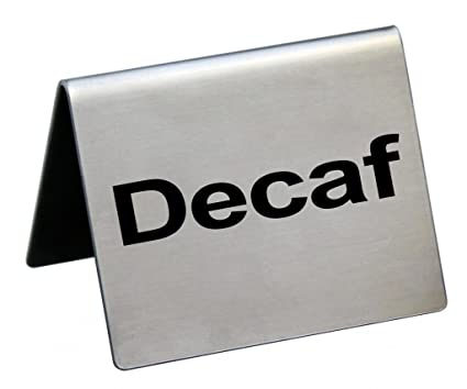 amazon com new star foodservice 27075 decaf table tent sign