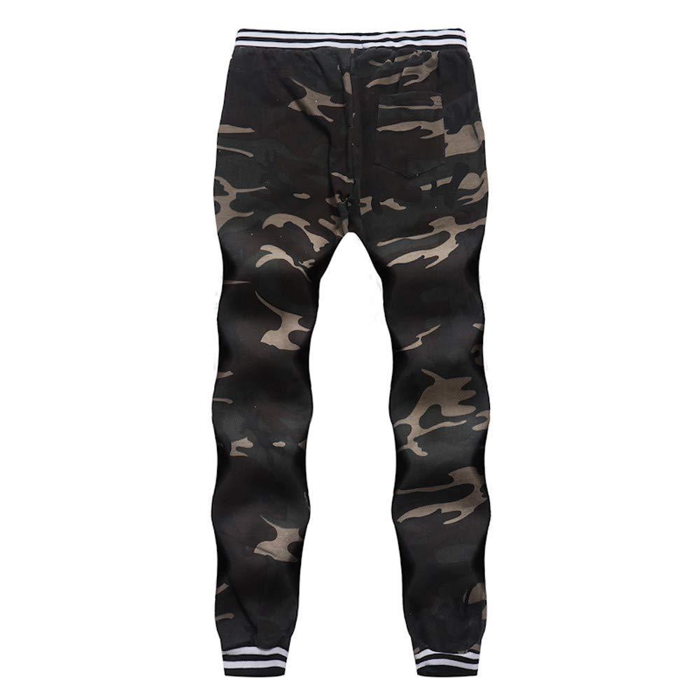SMTSMT/_Mens pants Mens Autumn Comouflage Classic Camo Joggers Pants Pockets Sweat Pants