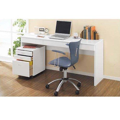パイン天然木 薄型シンプルデスクシリーズ デスク 幅180cm 514711(サイズはありません イ:ホワイト) B079BF2825イ:ホワイト