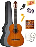 Image of Yamaha C40 Full-Size Classical Guitar Bundle with Gig Bag, Clip-On Tuner, Austin Bazaar Instructional DVD, Strings, Picks, and Polishing Cloth - Natural