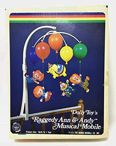 1976 Vintage #613 Raggedy Ann & Andy Musical Mobile - Dolly Toy Co. TIPP City Ohio
