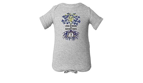 Tenacitee Mens Living in Jersey Oregon Roots T-Shirt