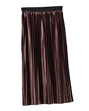 Runyue Mujer Otoño Invierno Elegante Falda Larga A-Line Cintura ...