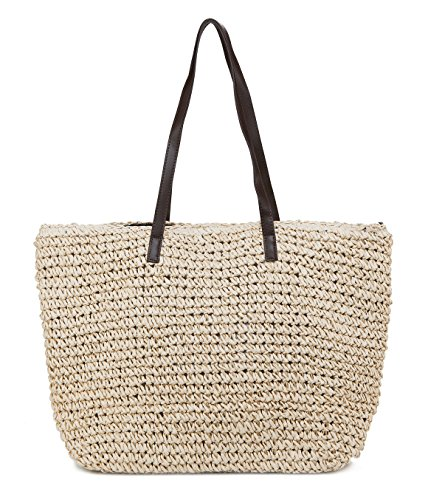 ILISHOP Hot Sale Women's Classic Straw Summer Beach Sea Shoulder Bag Handbag Tote (Hand Woven Bag)