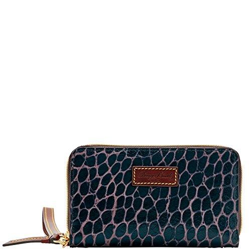 Croco Clutch Collection (Dooney & Bourke Campbell Zip Around Phone Wristlet)