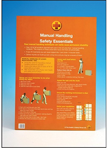Caledonia Signs 58167 A2 Poster, Manual Handling Essentials Caledonia Signs Ltd