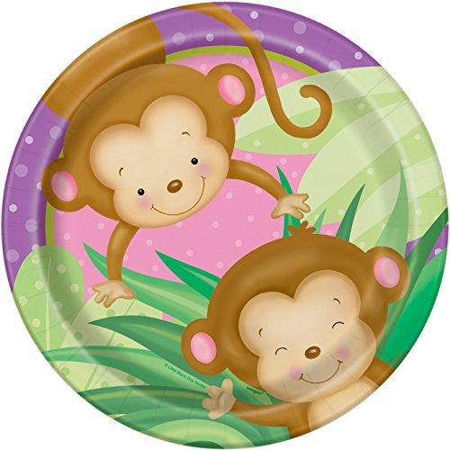 Monkey Paper Plates - 8