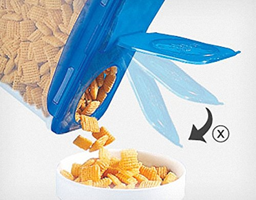 LOCK&LOCK Plastic Cereal Dispenser Dry Food Storage Keeper 3.9L(16.48 cup), Pack Of 4 by LOCK & LOCK (Image #2)