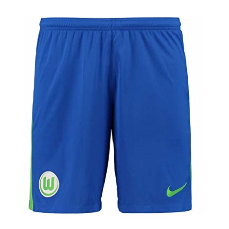 64cb44248e7b Amazon.com   Nike 2017-2018 VFL Wolfsburg Away Shorts (Blue ...