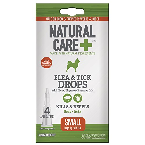 [Natural Care Flea and Tick Drops for Dogs, 4 Month Supply] (Natural Dog Care)