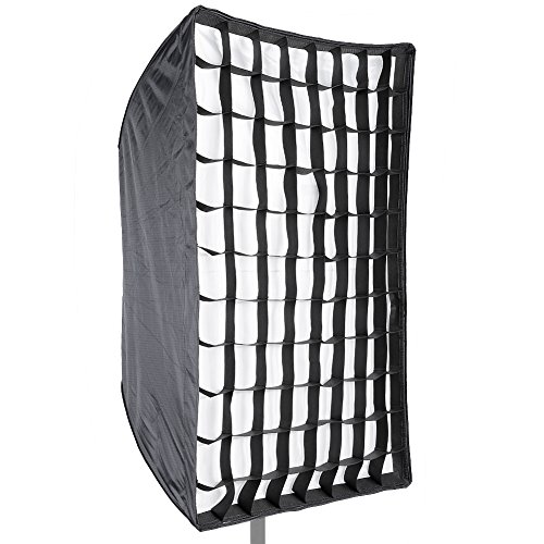 "Neewer Photo Studio 24"" x 36""/60 x 90cm Rectangle Umbrella Type Speedlite Softbox with Grid for Portraits,Product Photography and Video Shooting from Neewer"