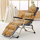 Der and Winter Recliner Cushion,Rocking Chair,Folding Recliner Cushion,Thick Cushion Cushion Outdoor Cushion for Garden Office (Color : A, Size : 53x130x10cm(21x51x4inch))