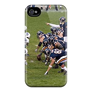 Premium Durable Chicago Bears Fashion Tpu Iphone 4/4s Protective Case Cover