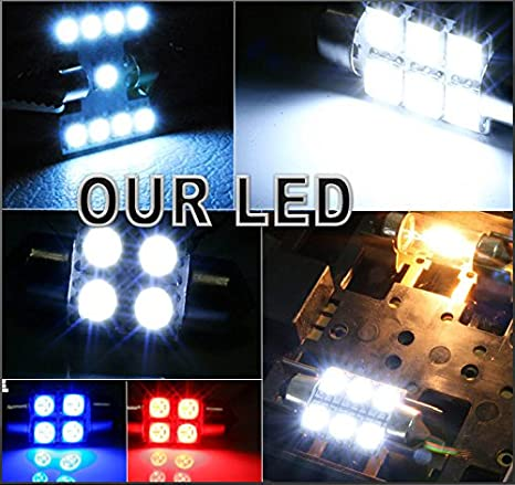 Amazon.com: 12 x Premium Xenon White LED Lights Interior Package Upgrade for Ford Edge (2007-2014): Automotive