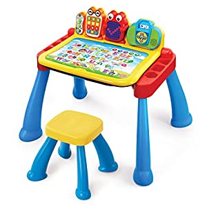 51%2Bk9uPelkL. SS300  - VTech Touch and Learn Activity Desk Deluxe (Frustration Free Packaging)