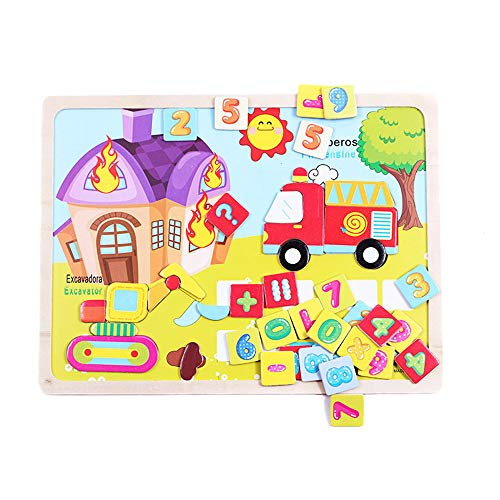Kids Baby Wooden Wood Animal Puzzle Numbers Learning Educational Toy by OVERMAL Toy