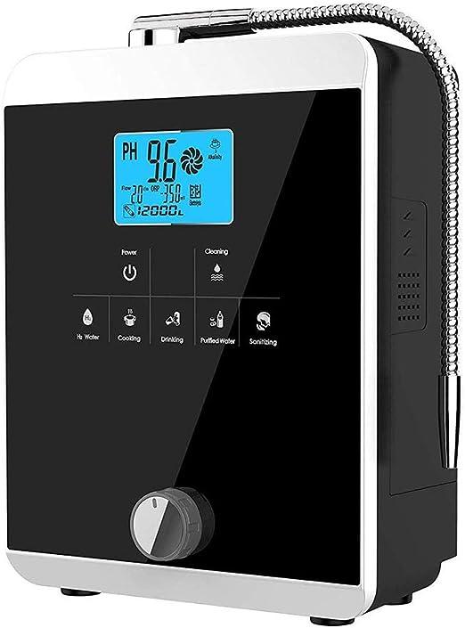 MEETGG Casa Ionizador de Agua, Purificador de Agua Sistema PH 3-11 ...