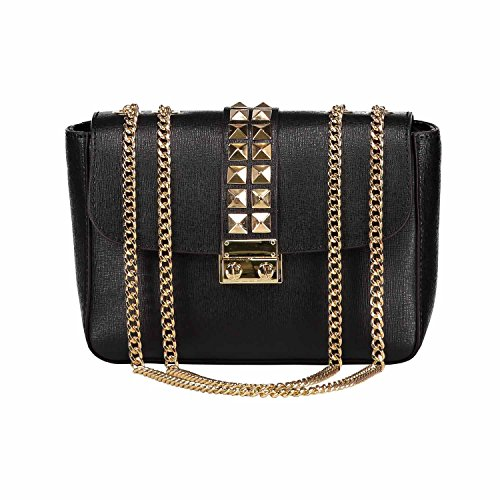 shoulder Rockstud studs bag strap VICHY gold bag light Saffiano leather with Clutch metal studded chain accessories Black shoulder bag tO5xtq7wI