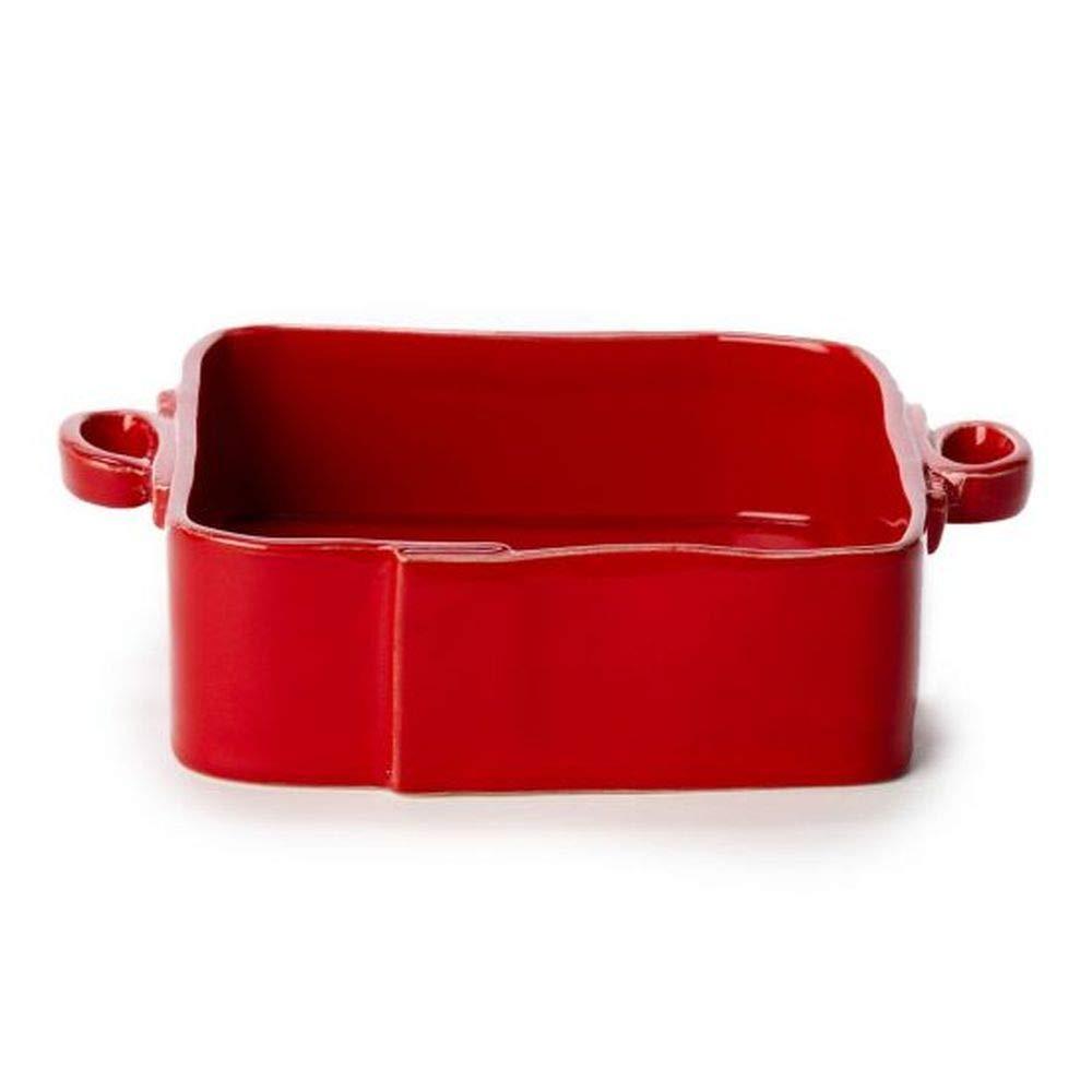 Vietri Lastra Red Square Baker