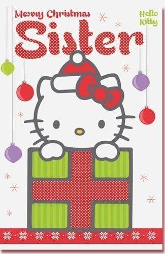 Hello Kitty Sister Carte de Noël: Amazon.fr: Fournitures de bureau