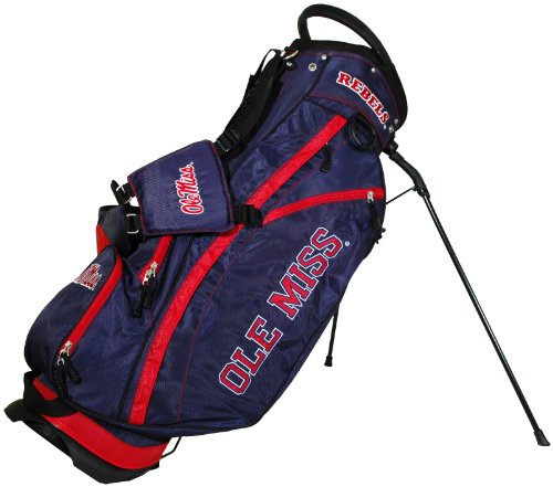 Team Golf NCAA Ole Miss Rebels Fairway Golf Stand Bag, Lightweight, 14-way Top, Spring Action Stand, Insulated Cooler Pocket, Padded Strap, Umbrella Holder & Removable Rain Hood (Ole Cooler Miss Bottle)