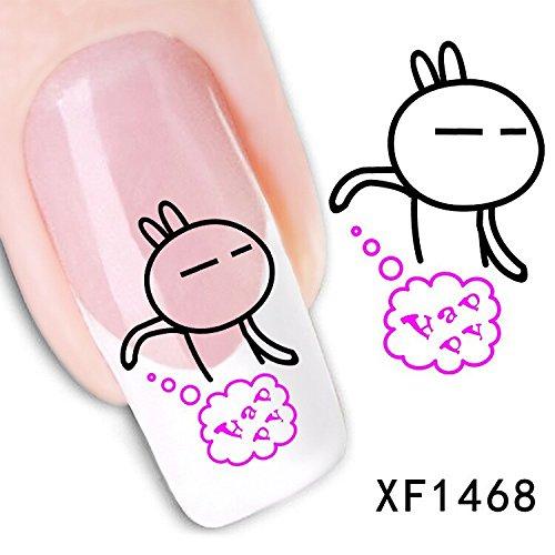 Mate Maniküre Nagellack nail Sticker Aufkleber künstliche Blume Wasserzeichen Pinsel Blume 3D Nail Sticker , xf1268
