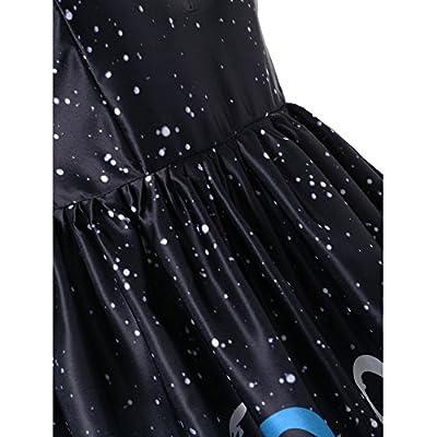 LILICAT Femme Longue Robe /à Manches Courtes /à Manches Courtes /à col en V pour Femmes Corps inf/érieur /étanche du Haut du Corps Et Jupes Ligne de Taille Haute Boh/ême Impression Femmes d/ét/é