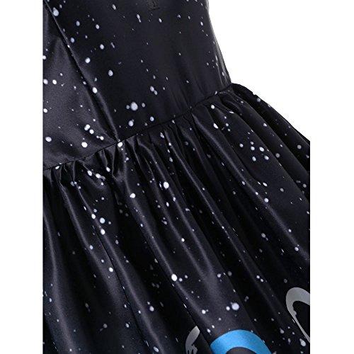 sans du Manches Haut Lace Col Lace infrieur au Ligne du Impression Robe Femme tanche Corps Corps Taille Section Impression Dresses Lacefashion Jupe Loisirs Genou de LILICAT Rond Haute gwPqxIXv
