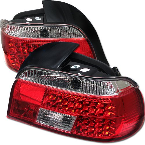 BMW E39 5-Series 97-03 LED Tail Lights - Red Clear ()