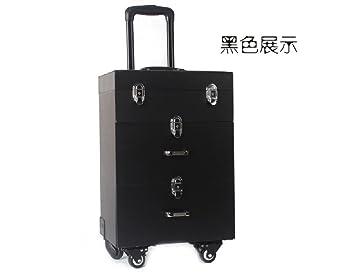 497deda09 RT@ Palanca multifuncional de profesional uñas caja grande varios aparador  de cajón con el estuche de maquillaje (35 * 23 * 49 cm) , black: Amazon.es:  ...