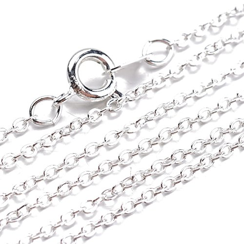 Pandahall 5stands Silver Necklaces Making