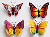Gotd 12pack 3D DIY Wall Stickers Butterfly Fridge Magnet Home Decor Room Decorations